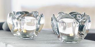 Glas lysestager fra holmegaard