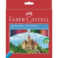 Coloured pencils Castle hexagonal cardboard box of 24