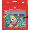 Watercolour pencil cardboard box of 24 incl. brush