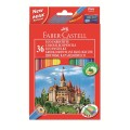 Coloured pencil Castle with sharpener box of 36