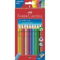 Coloured pencil Jumbo GRIP cardboard box of 12